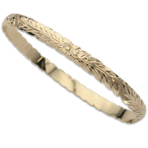 OGB002/ 6mm Barrel Cut out Bangle 1.5mm